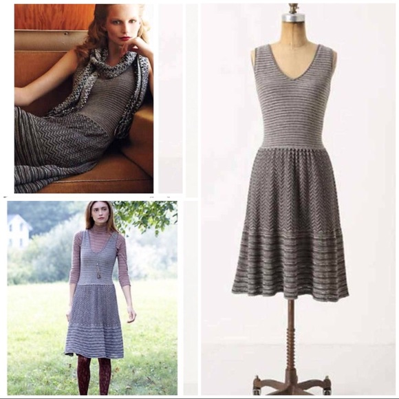 1295ee6885 Anthropologie Dresses   Skirts - Knitted   Knotted Test Pattern Sweater  Dress Large